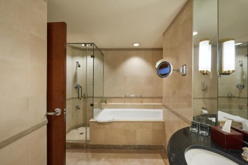 A bathroom at Grand Nile Tower