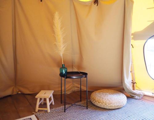 Posezení v ubytování Casa La Paz- Teepee Volcano