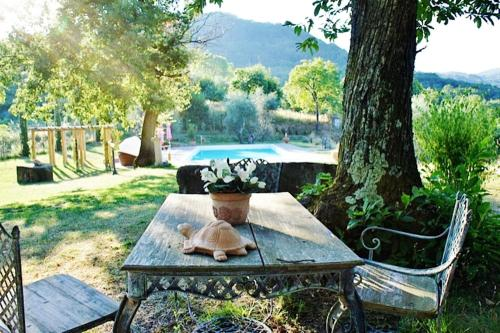 Piscina di House with 4 bedrooms in Montelaterone with wonderful mountain view private pool enclosed garden 19 km from the slopes o nelle vicinanze