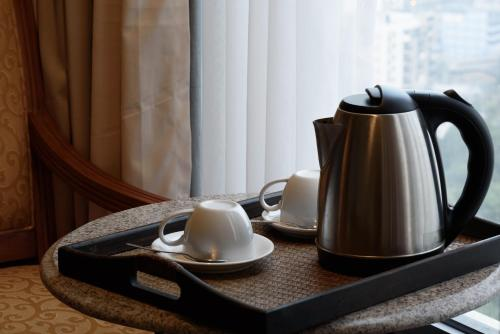 Coffee and tea-making facilities at Copthorne Hotel Newcastle