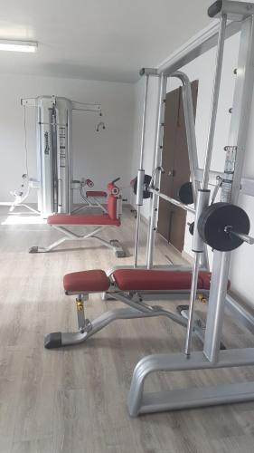 The fitness center and/or fitness facilities at Hospedium Hotel Castilla