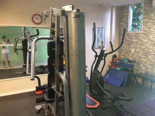 The fitness centre and/or fitness facilities at Flat Angra Inn 220 Angra dos Reis