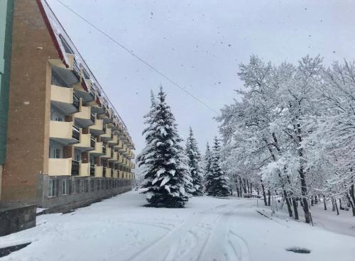Tsaghkadzor General Sport Complex Hotel during the winter