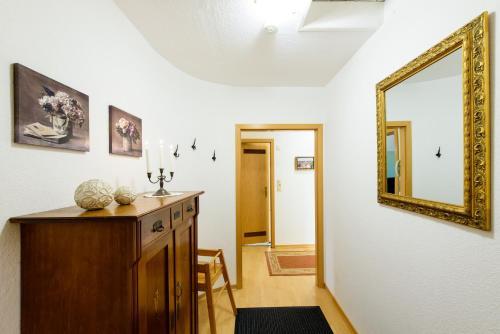 Küche/Küchenzeile in der Unterkunft Ferienwohnungen Burg im Zwinger