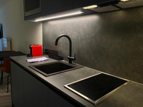 A kitchen or kitchenette at ROXI Residence Gent