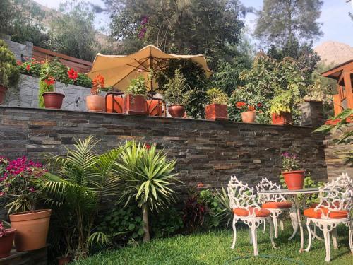 A garden outside Casa Campo Machu Picchu - Club Los Girasoles, Chaclacayo