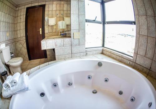 Um banheiro em Hotel Fazenda Horizonte Belo