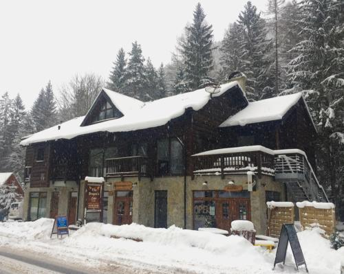 The Dragon's Lair Chalet during the winter