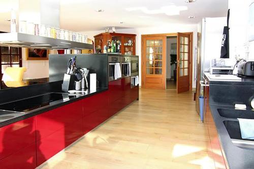 Küche/Küchenzeile in der Unterkunft Ferienhaus Humptrup