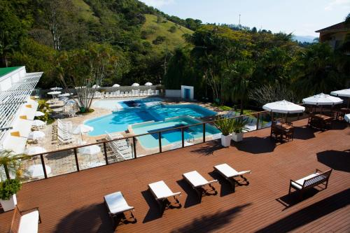 A view of the pool at Plaza Caldas da Imperatriz Resort & Spa or nearby