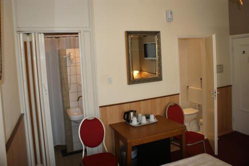 Espaço para refeições no hotel