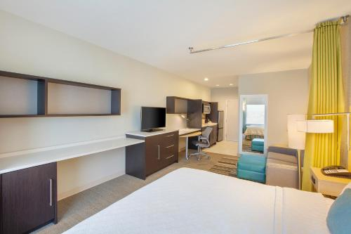 A television and/or entertainment center at Home2 Suites by Hilton Amarillo