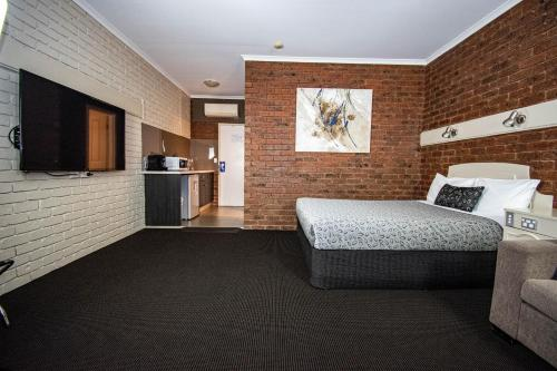 The lobby or reception area at Albury Townhouse Motel