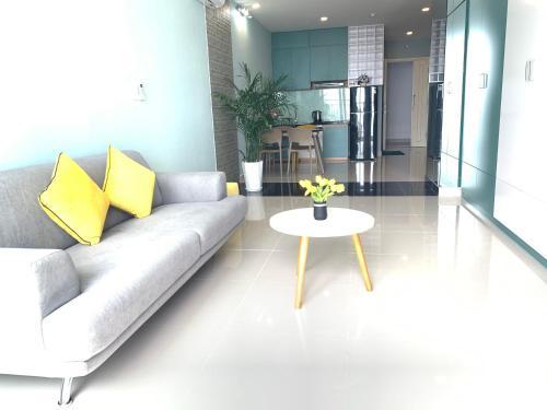 A seating area at Căn hộ Vũng tàu Melody