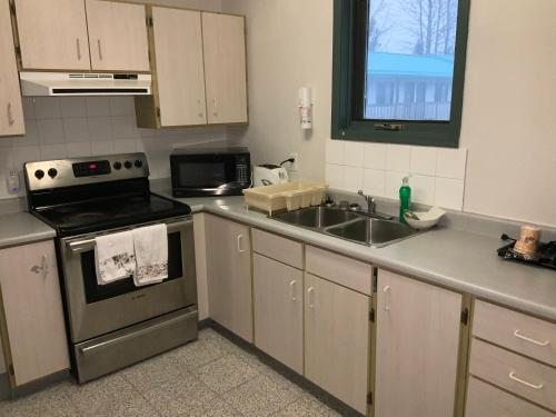 A kitchen or kitchenette at Alpine Inn