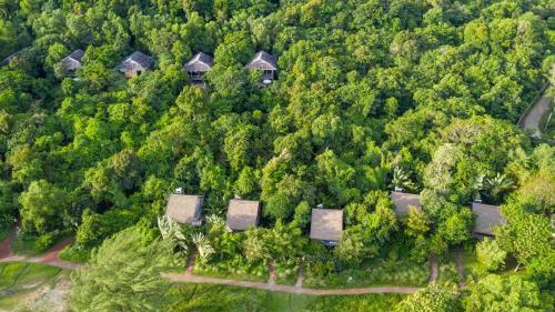 A bird's-eye view of Mango Bay Resort