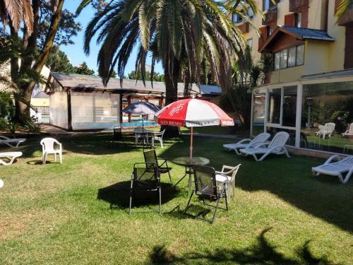 A garden outside San Remo Park Hotel