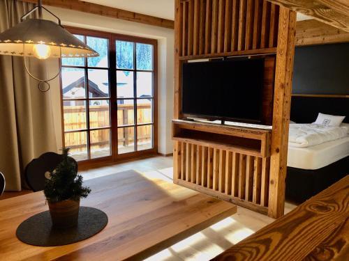 TV/Unterhaltungsangebot in der Unterkunft Appartements Innerkofler Mountain Home
