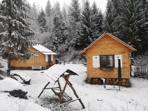 Homoród Lodge during the winter