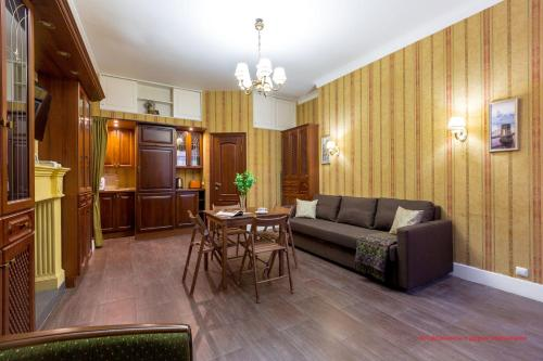 Гостиная зона в Апартаменты на Херсонской 10