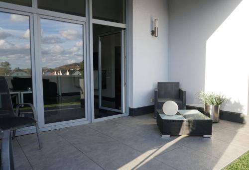 Ein Balkon oder eine Terrasse in der Unterkunft Hotel Come In