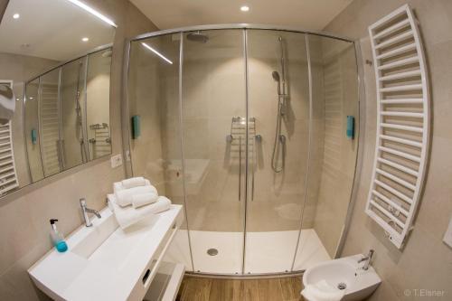 Koupelna v ubytování Hotel Ariston