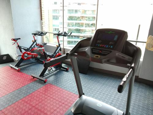 The fitness center and/or fitness facilities at Café Hotel Medellín