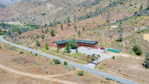 A bird's-eye view of Corral Creek Lodge