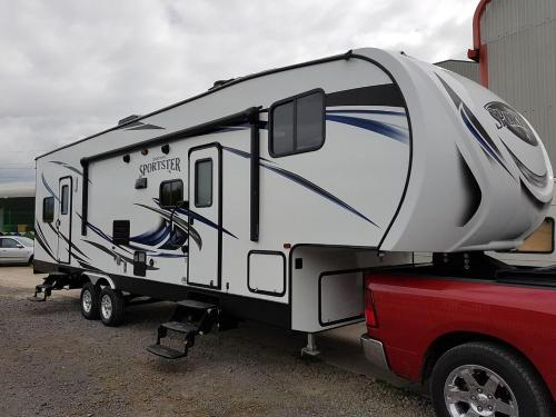 Air Conditioned 2017 RV Trailer in secure yard