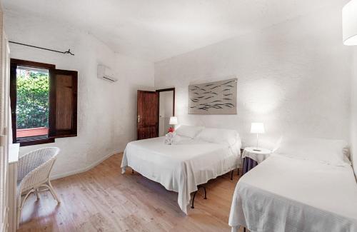 Letto o letti in una camera di Hotel Villa Mediterranea