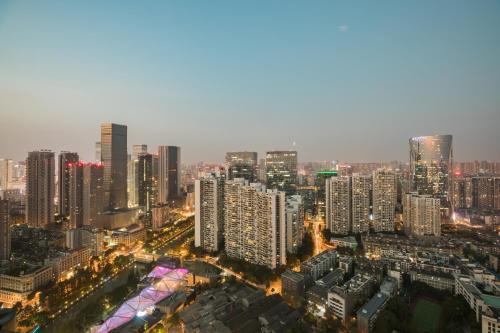 A bird's-eye view of Shangri-La Chengdu