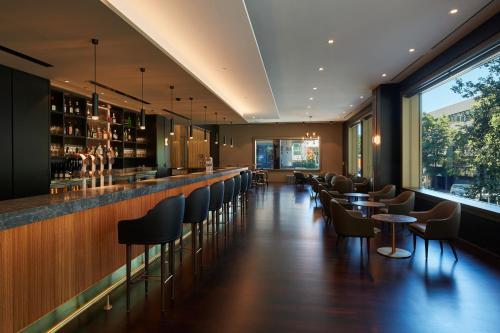 The lounge or bar area at Parmelia Hilton Perth