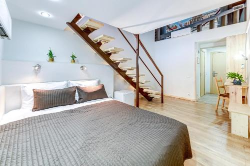 Кровать или кровати в номере Стоуни Айленд Отель