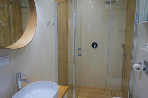 A bathroom at Enklawa Białowieska