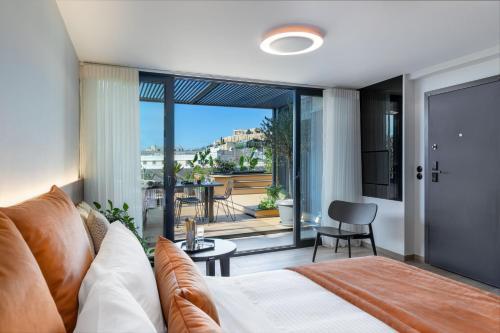 Posezení v ubytování Hydria Boutique Suites by Athens Stay