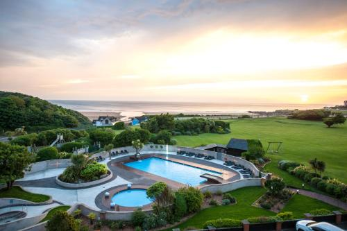 A view of the pool at The Woolacombe Bay Hotel or nearby