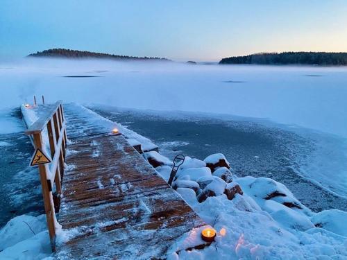 Falun Strandby Främby Udde under vintern