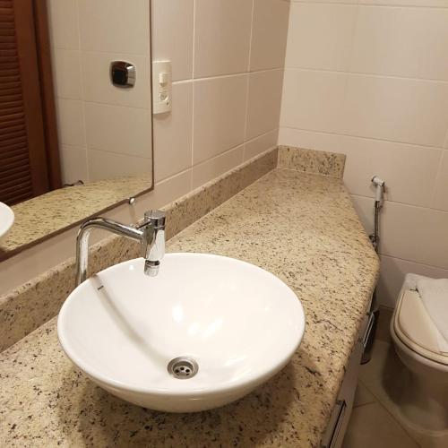 A bathroom at Hotel Meaípe