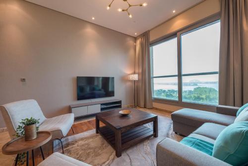 A seating area at Eden's Dubai - Rixos Residences