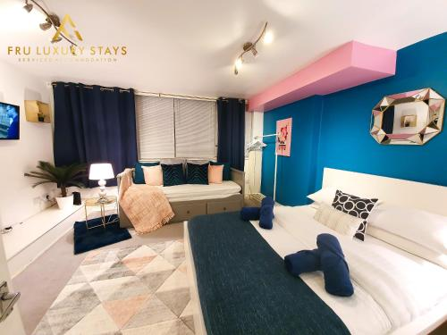 Bristol Apartment, Fru Luxury Stays Serviced Accommodation,1 Bedroom Studio Apartment with Free Parking & Wifi