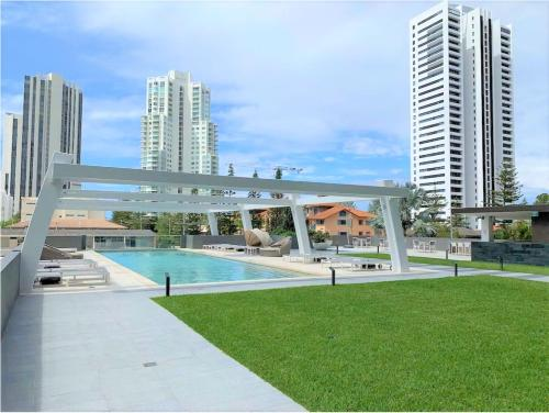 The swimming pool at or near High-End stylish Apartment by Serain Residences
