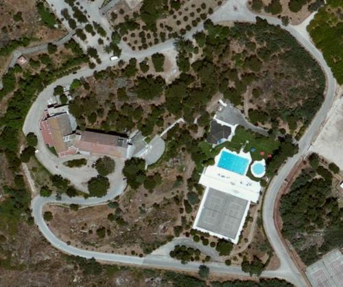 A bird's-eye view of Hotel Senhora do Castelo