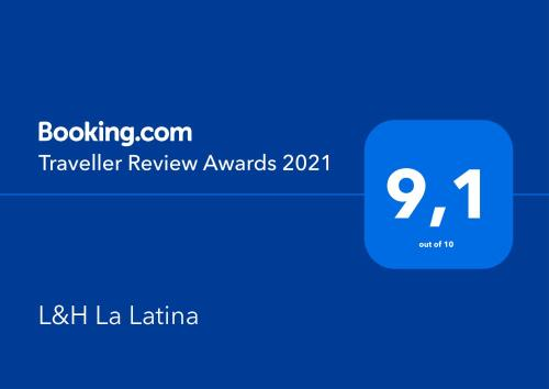 Certificado, premio, señal o documento que está expuesto en L&H La Latina