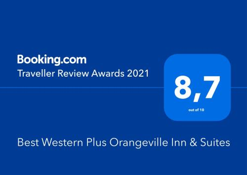 A certificate, award, sign, or other document on display at Best Western Plus Orangeville Inn & Suites