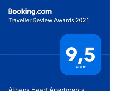 תעודה, פרס, שלט או מסמך אחר המוצג ב-Athens Heart Apartments