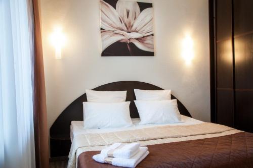 Кровать или кровати в номере Мини-Гостиница ЦСК ВВС