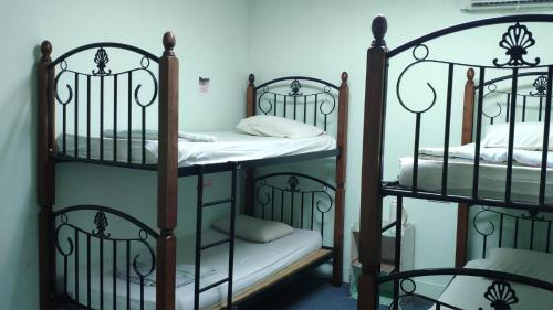 A bunk bed or bunk beds in a room at Borneo Gaya Lodge