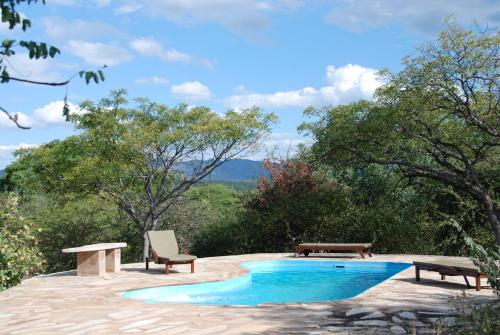 The swimming pool at or near Ohange Namibia Lodge
