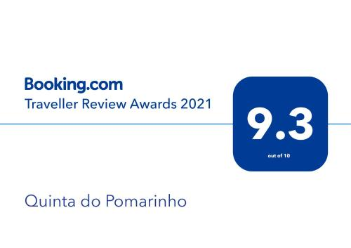 Een certificaat, prijs of ander document dat getoond wordt bij Quinta do Pomarinho