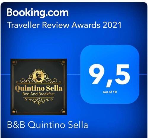 Certificato, attestato, insegna o altro documento esposto da B&B Quintino Sella
